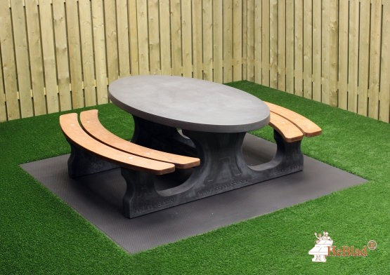 Picknickset DL Anthrazit-Beton oval